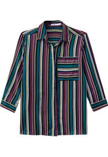 Camisa Listrada Bolso Malwee