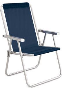Cadeira Alta Conforto Alumínio Sannet Azul