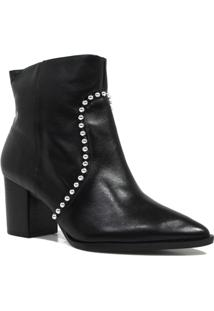 Bota Zariff Shoes Ankle Boot Metais Feminina - Feminino