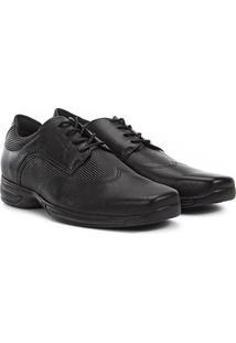 Sapato Social Couro West Coast Air Control - Masculino-Preto