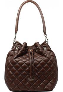 Bolsa De Couro Recuo Fashion Bag Saco Chocolate