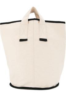 Cabas Bolsa Tote Média 'Laundry' - Branco