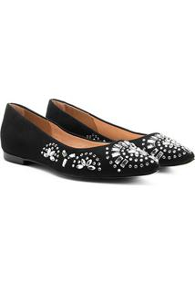 Sapatilha Shoestock Hot Fix - Feminino-Preto