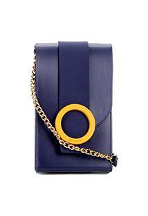 Bolsa Petite Jolie Mini Bag J-Lastic Phone Case Plus Feminina - Feminino-Marinho