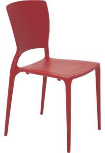 Cadeira Sofia- Vermelho Escuro- 82,5X53X44,5Cm- Tramontina