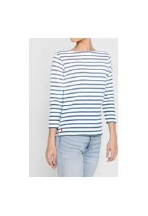 Blusa Polo Ralph Lauren Listrada Azul/Branco
