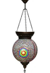 Luminária Turca C/ Mosaico Color 50Cm