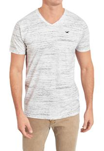Camiseta Manga Curta Hollister Básica Cinza Mescla
