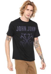 Camiseta John John Super Log Preta