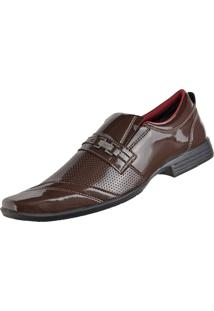 Sapato Social Cr Shoes Fashion Fino Marrom