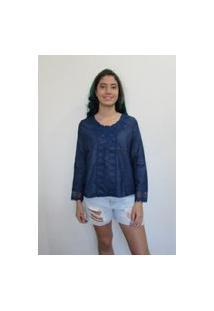 Bata Bon Detalhes Jeans Azul