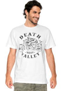 Camiseta Fiveblu Manga Curta Death Valley Branca