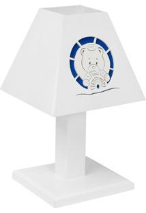 Abajur Urso Náutico Mdf - Azul Marinho - Marinheiro