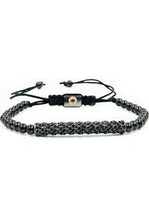 Pulseira Macrame Black Diamond Luxury