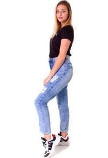 Calça Jeans Opera Rock Mon Feminina - Feminino