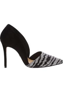 Scarpin Zebra Glam Black | Schutz