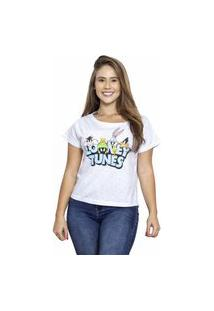 Camiseta Sideway Looney Tunes Personagens - Branca