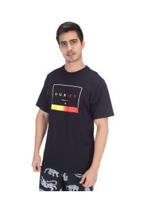Camiseta Hurley Silk Off The Press - Masculina - Preto