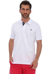 Camisa Polo Clube Náutico Slim Branco