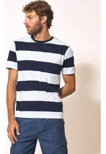 Camiseta Aviator S.Petersburgo Masculina - Masculino-Azul+Branco