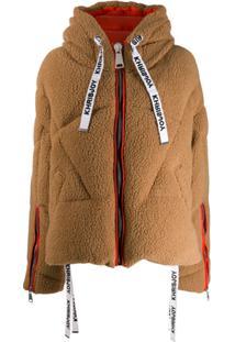 Khrisjoy Faux Shearling Puffer Jacket - Marrom