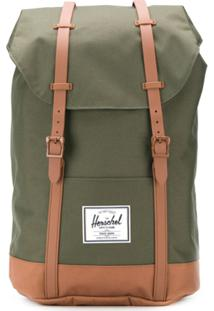 Herschel Supply Co. Mochila Retreat Com Contraste - Verde
