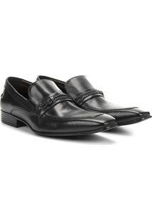 Sapato Social Couro Jorge Bischoff Estugarda - Masculino-Preto