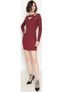 Vestido Com Recortes - Vermelho- Operateoperate