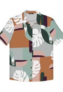 Camisa Manga Curta Estampa Tecido Tucanos - Lez A Lez