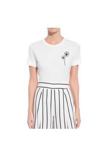 Camiseta Forseti Confort Dente De Leão Branca