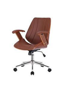 Cadeira Kopenhagen Diretor Caramelo Acabamento Madeira 98Cm - 62563 Caramelo