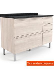 Balcão Para Cozinha Belíssima Plus 1 Pt 4 Gv Saara Wood E Saara Wood Cetim 120 Cm