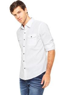 Camisa Hering Slim Bolsos Branca