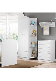 Guarda Roupa 2660 Confete Plus – Multimóveis - Branco Premium / Colorido