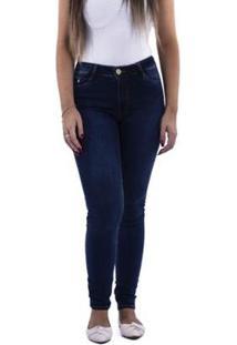 Calça Feminina Slim Jeans Visual Jeans - Feminino-Azul