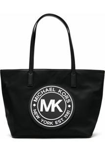 Michael Michael Kors Bolsa Tote Kenly Com Logo - Preto