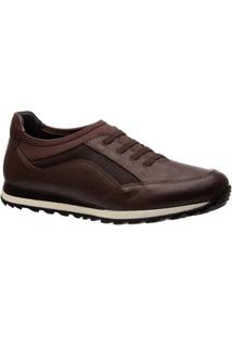 Sapatênis Em Couro Doctor Shoes Masculino - Masculino-Marrom