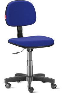 Cadeira Secretária Giratória Crepe Azul