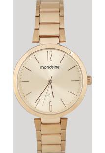 Relógio Analógico Mondaine Feminino - 53719Lpmgre1 Rosê - Único