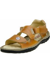 Sandália Clacle Velcro Bege