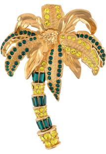 Versace Broche De Palmeira - Dourado