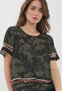 Camiseta Triton Camuflada Verde - Kanui