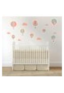 Adesivo De Parede Infantil Balões Rosa
