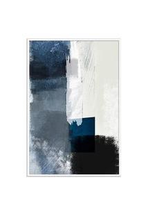 Quadro 75X50Cm Abstrato Textura Geruzak Moldura Branca Com Vidro Oppen House