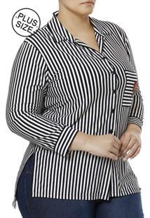 2f299bcd3d Camisa Manga 3 4 Plus Size Feminina Autentique - Feminino