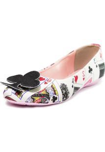 Sapatilha Cupcakes Shoes Bico Redondo Naipes Branco