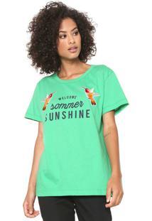Camiseta Sommer Sunshine Verde
