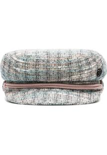 Maison Michel Abby Tweed Baker Boy Hat - Multicoloured