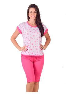 Pijama Vip Lingerie Pescador Malha Rosa