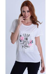Camiseta Com Paetê Feminina Facinelli
